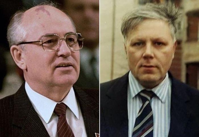 Михаил Горбачев и стрелявший в него Александр Шмонов
