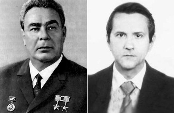 Леонид Брежнев и человек, который совершил на него покушение, – Виктор Ильин