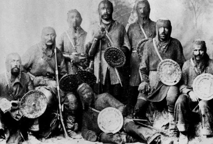 Хевсуры (племя грузин-горцев). 1890 год.
