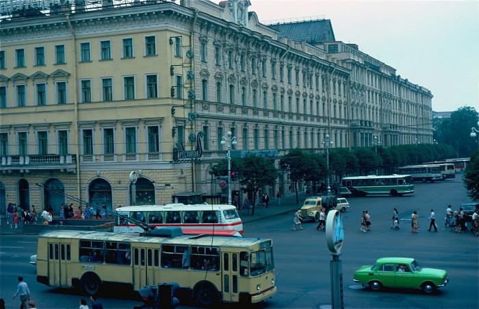 Гостиница Европейская. СССР, Ленинград, 1981 год.