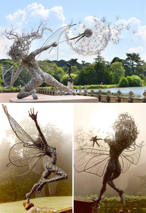 Удивительные проволочные феи скульптора Робина Уайта.