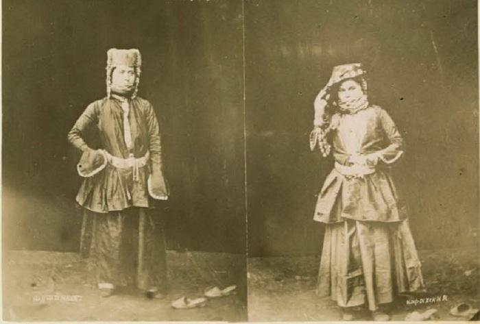 Девушки - шушинки из одного поселения. Кавказ, последняя четверть XIX века.