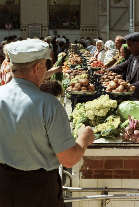 Бессарабский рынок. СССР, Киев, 1989 год.