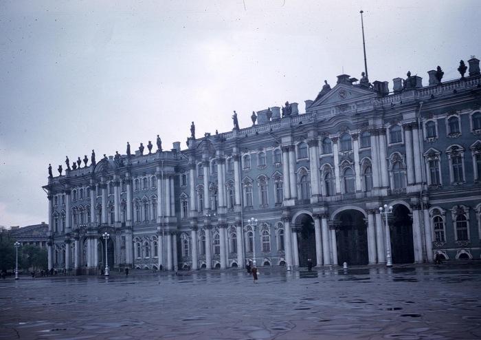 Панорама Зимнего дворца. СССР, Ленинград, 1959 год.