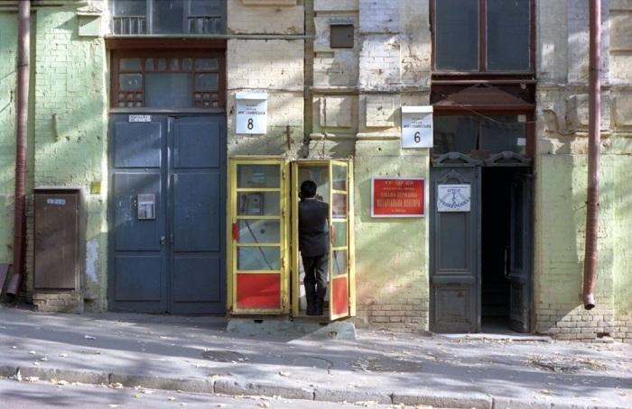 Малая Житомирская улица. СССР, Киев, 1986 год.
