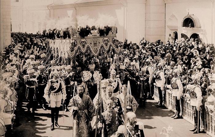 Коронация императора Николая II и императрицы Александры Федоровны в 1896 году.