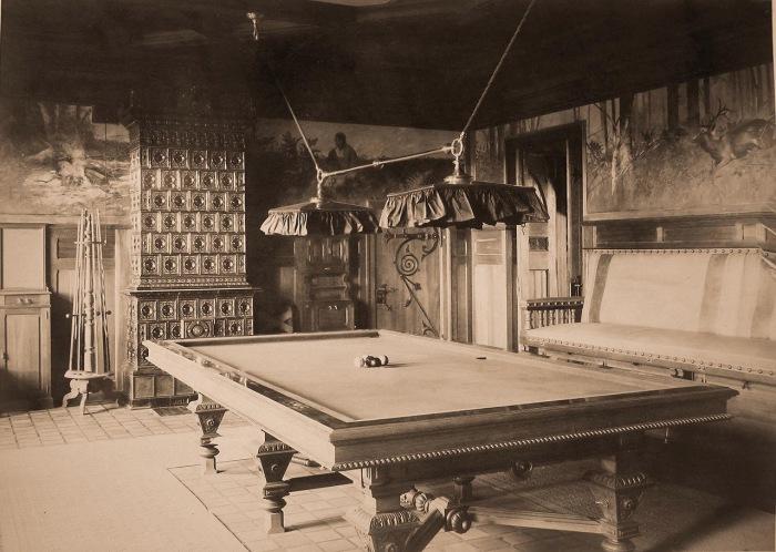 Бильярдный стол. Беловежская пуща, императорский охотничий дворец, 1894 год.