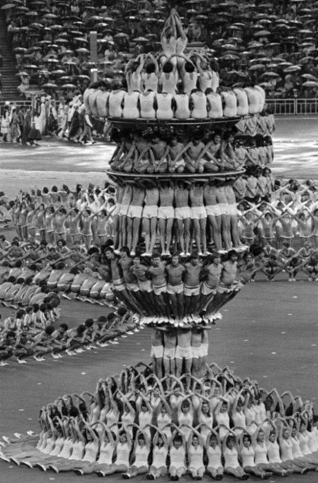 Церемония открытия Олимпийских игр в СССР. Москва, 1980 год.