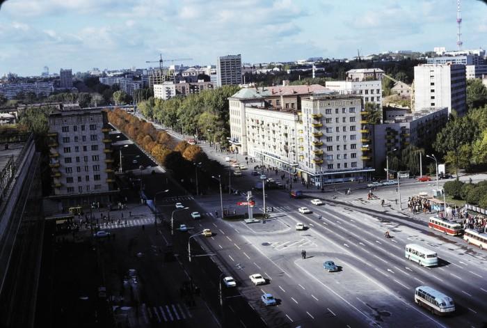 Брест-Литовское шоссе в Киеве.