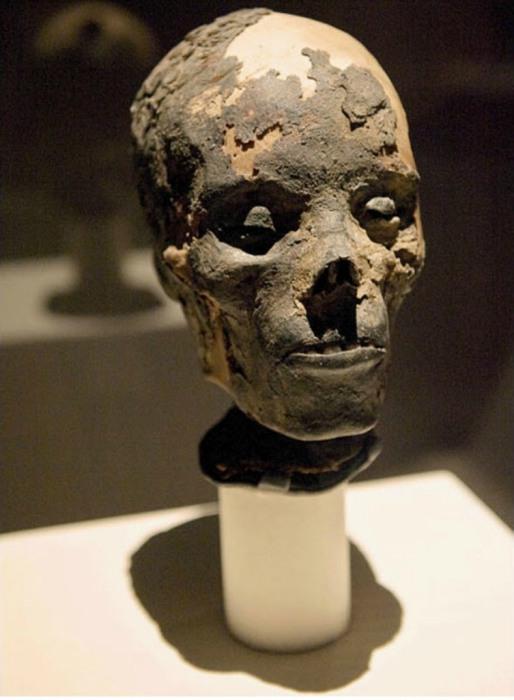 Голова египетской мумии взрослого человека.