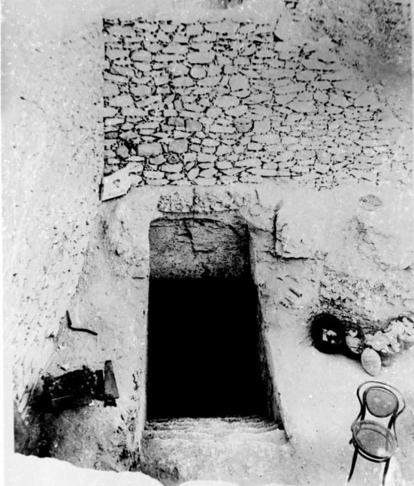 Детальное фото входа в гробницы Тутанхамона, правившего Египтом с 1358 по 1350 гг до н.э.