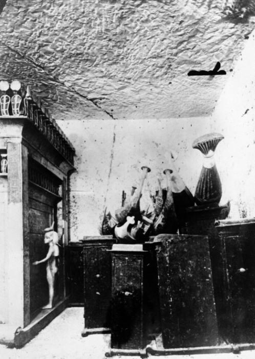 Часть из сокровищ, найденные в гробнице Тутанхамона в 1923 году.