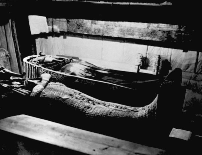 Саркофаг, найденный в гробнице Тутанхамона.