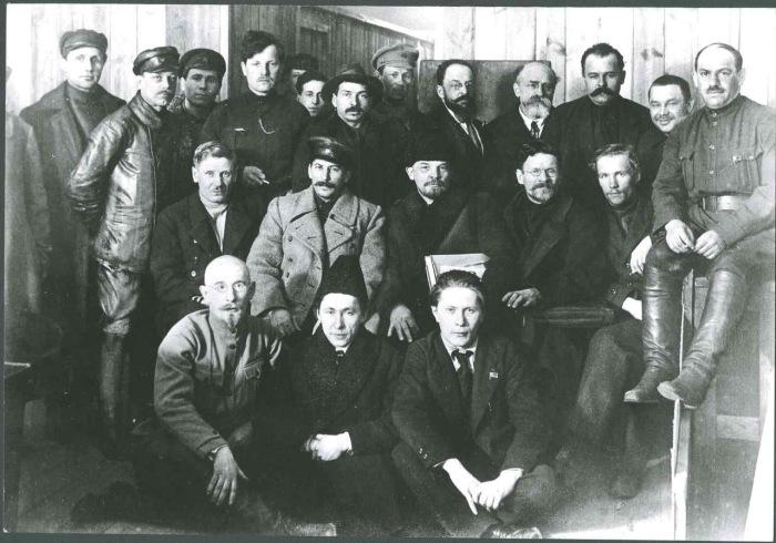 Групповой портрет верхушки Советской власти. 1919 год.