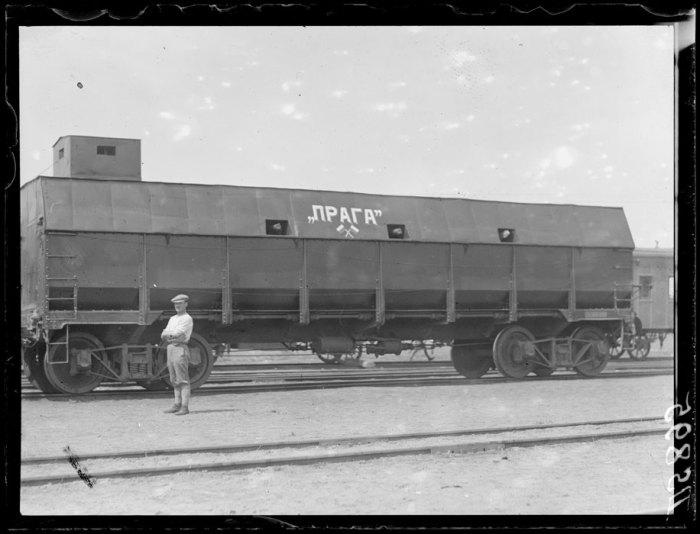Чешский бронепоезд в Барнауле. Лето, 1919 год.