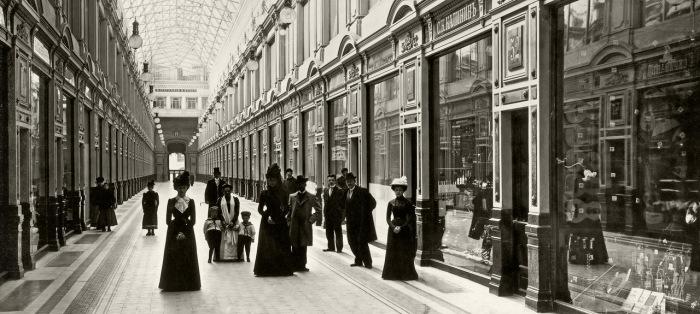 Внутренний вид Пассажа Санкт-Петербурга. 1900 год.