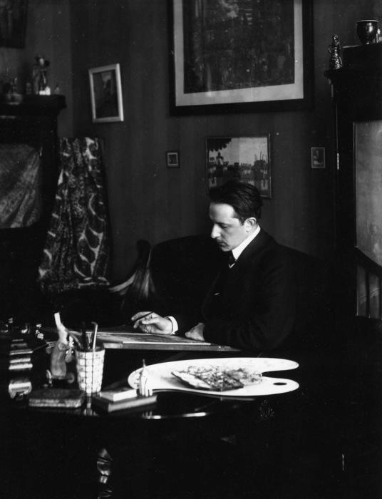 Мстислав Добужинский - русский и американский художник, мастер городского пейзажа. 1900-е годы.