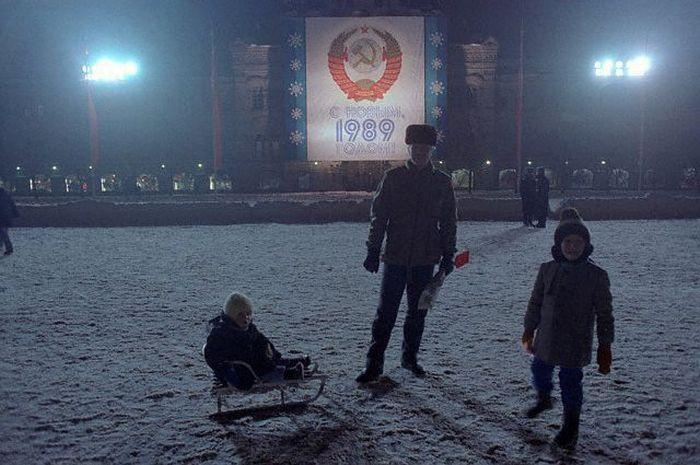 Красная площадь. СССР, Москва, 1988 год.