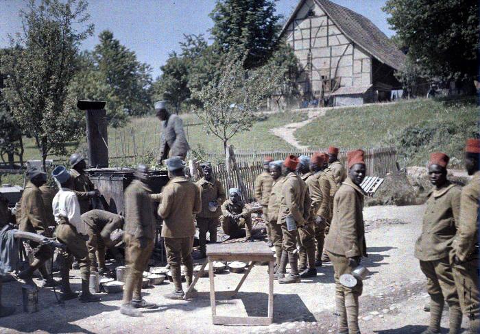 Солдаты из Африки в годы Первой мировой войны.