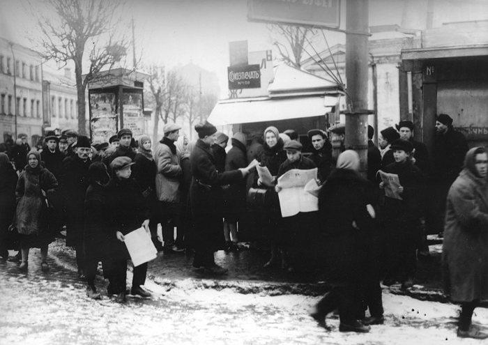 Киоск «Союзпечати № 120». СССР, Москва, Цветной бульвар, 1920-е годы.