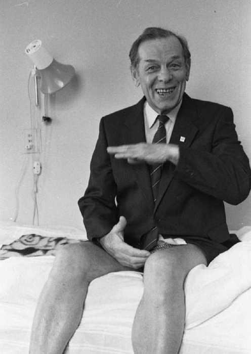 Георгий Жженов в Боткинской больнице в 1989 году.