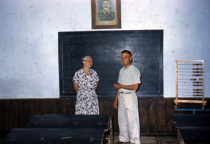 Сельская школа в 1950 годах.
