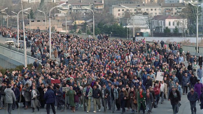 Шествие в Тбилиси, 22 января 1991 года.