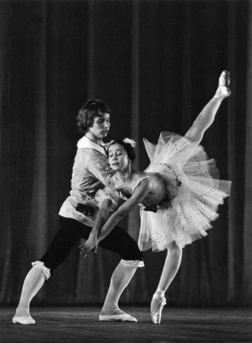 Надежда Павлова и Вячеслав Гордеев на репетиции в 1973 году.