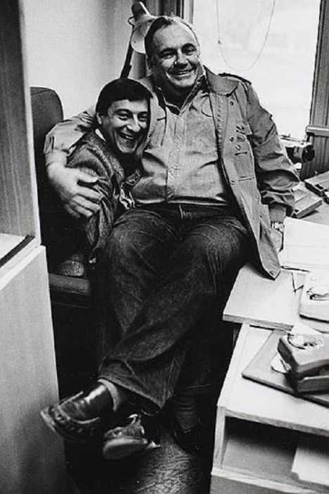 Эльдар Рязанов и Геннадий Хазанов в 1989 году.