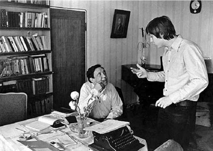 Юрий Никулин с сыном Максимом.