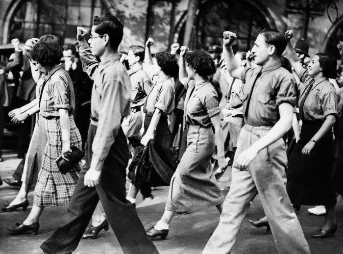 Традиционная демонстрация в Лондоне, 20 сентября 1936 года.