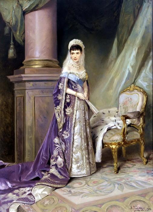 Портрет императрицы Марии Фёдоровны в 1912 году.