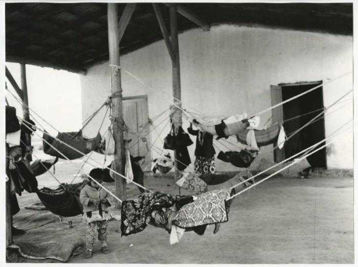 Колхозные ясли. Узбекская ССР, 1980 год.