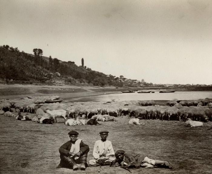Пастухи. Россия, Цымлянская станица, 1876 год. Фото: Ivan Boldyrev.