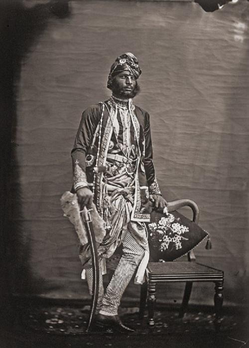 Портрет неизвестного мужчины. Джайпур, примерно 1857 год.