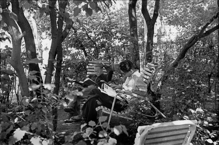 Центральный парк культуры и отдыха имени Горького. СССР, Москва, 1954 год.