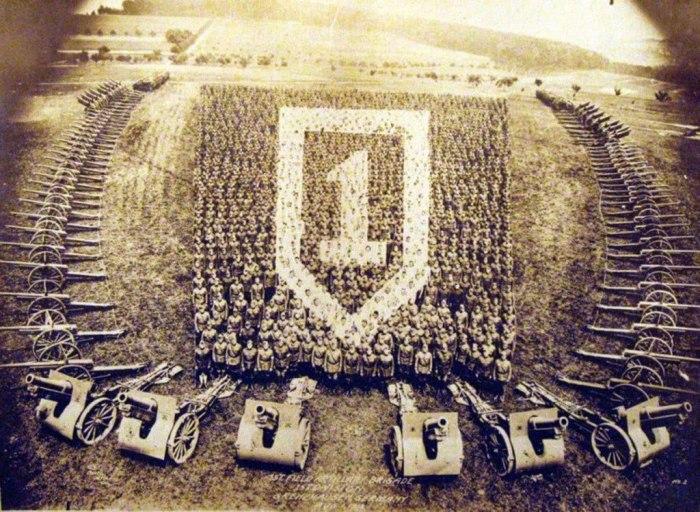 Живой коллаж по случаю победы в Первой мировой, Германия, 1918 год
