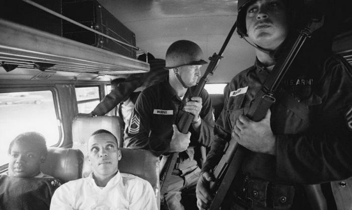 Всадники свободы в 1961 году. Photo by Paul Schutzer.
