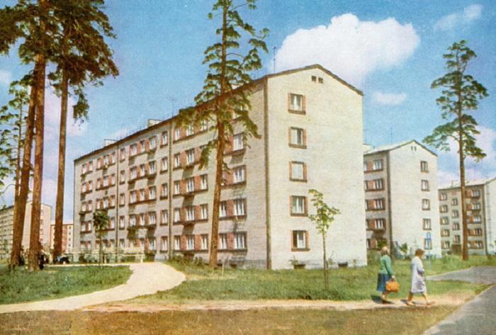 Новый квартал в Риге. СССР, 1965 год.