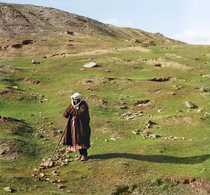 Пастух овец и другого скота. Самарканд, начало 20 века.