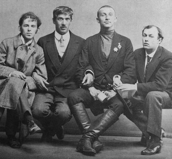Осип Мандельштам, Корней Чуковский, Бенедикт Лившиц и Юрий Анненков.