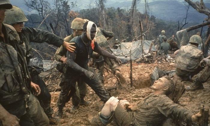 Морские пехотинцы во время войны во Вьетнаме.