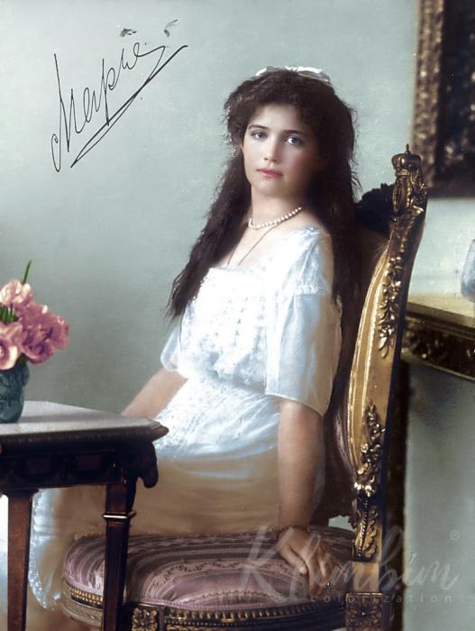 Портретный снимок великой княжны Марии Романовой.