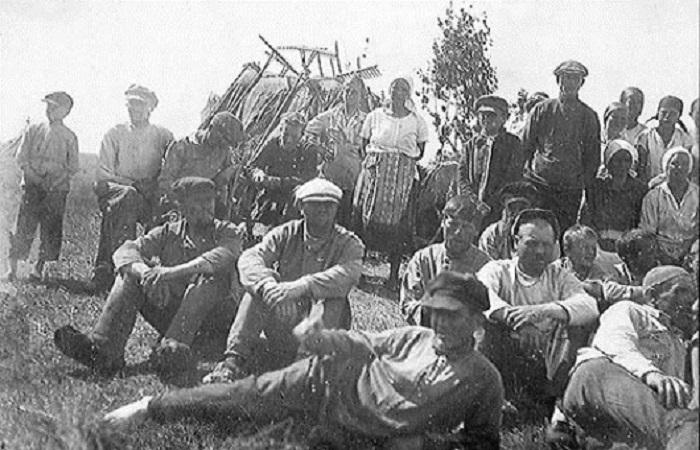 Колхозники. Кировская область, 1933 год.