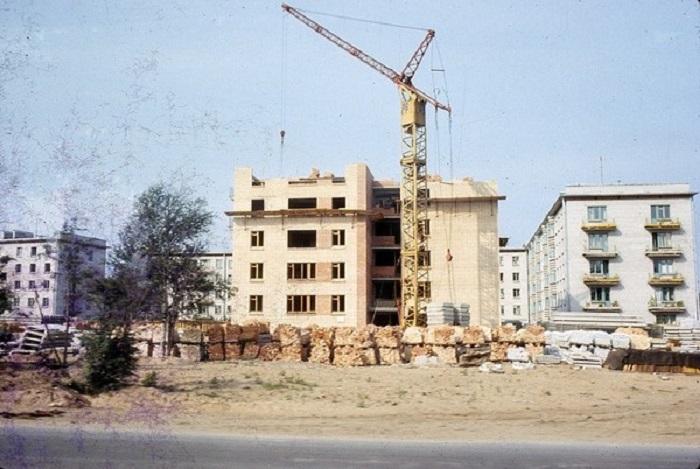 Строительство в Выборге. СССР, 1965 год.