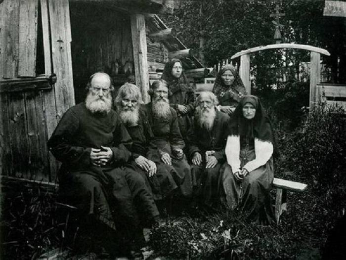 Семья староверов.