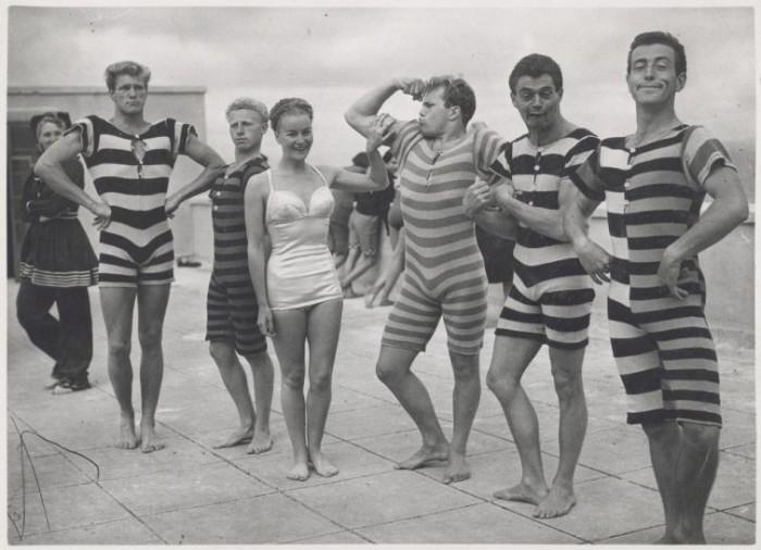 Пляжная одежда, 1945-1950 годы.