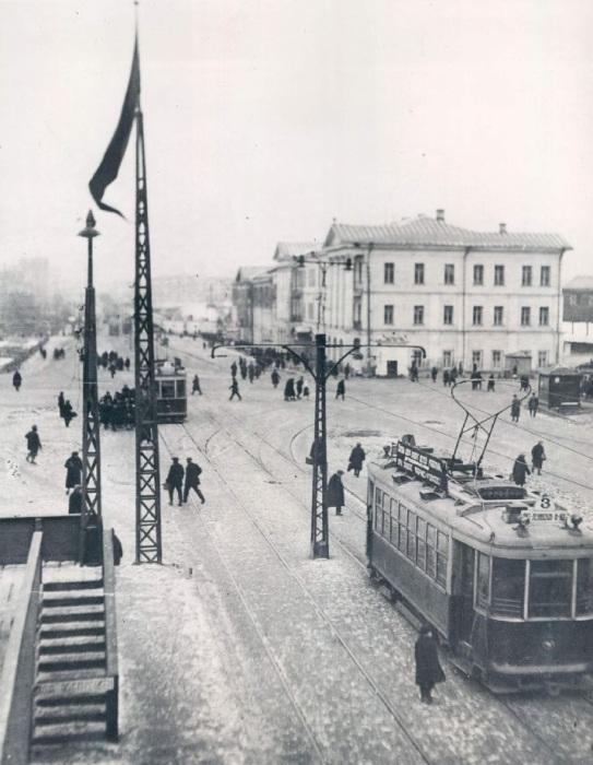 Трамваи в Свердловске. СССР, 1941 год.