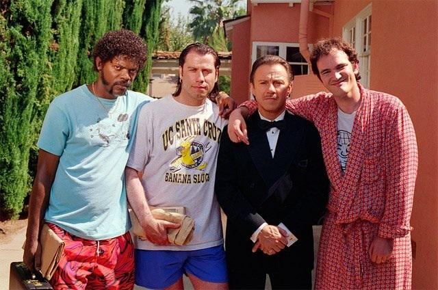 Во время съемок кинофильма режиссёра Квентина Тарантино «Криминальное чтиво».