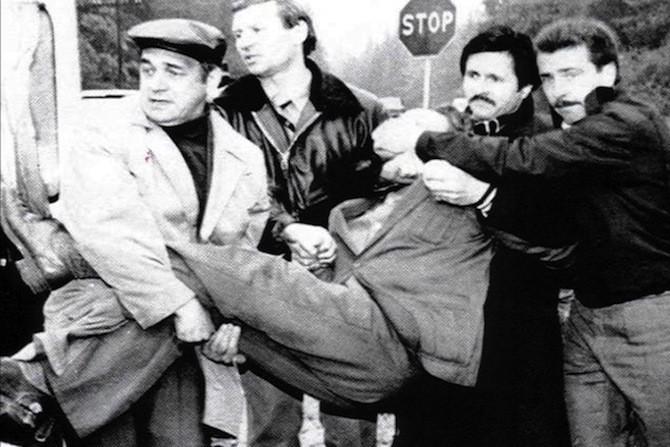 Сотрудники КГБ арестовали шпиона. Подмосковье, 1985 год.